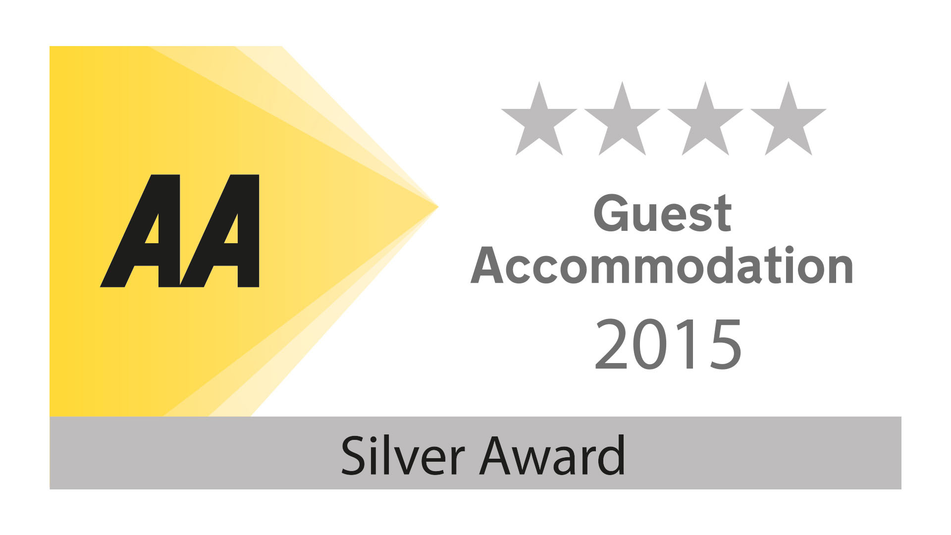 The Penellen has been awarded The Silver 4 Star AA Award